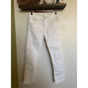 Anthro Pilcro Parallel Skinny Jean white | 26